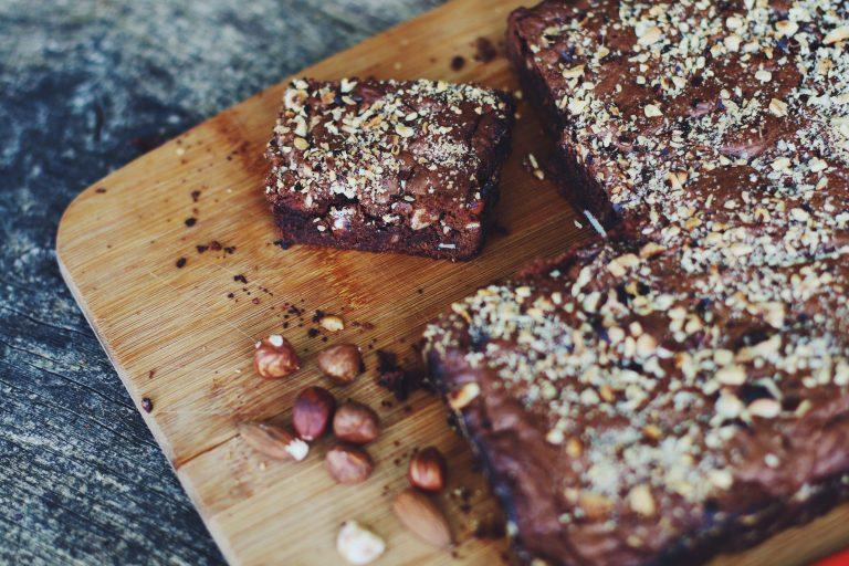 Brownie aux noisettes et amandes